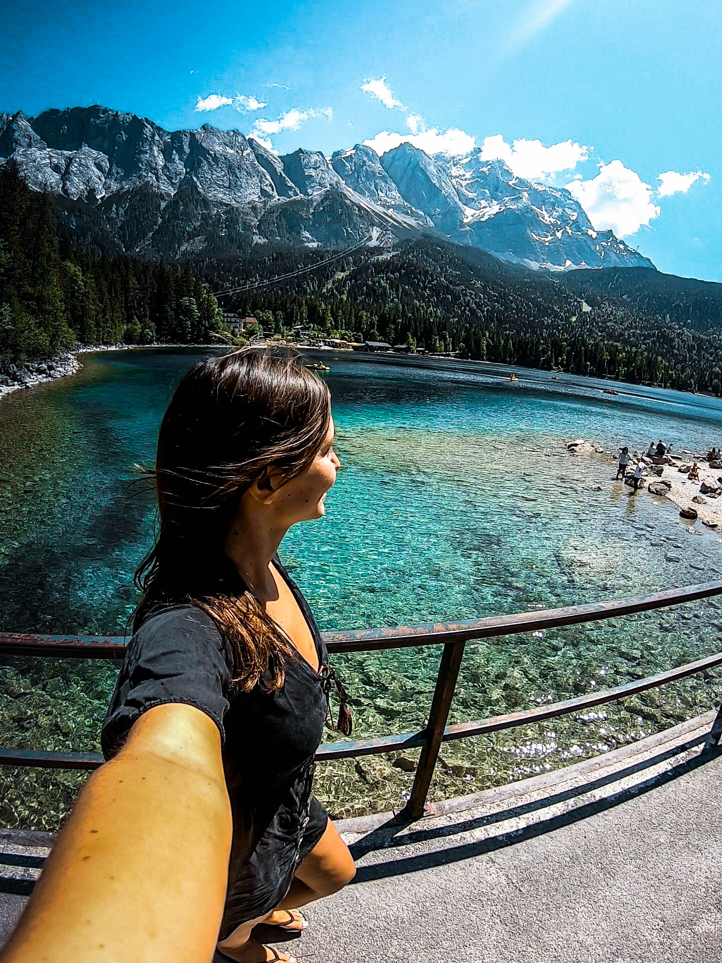 GoPro-selfie in front of Eibsee