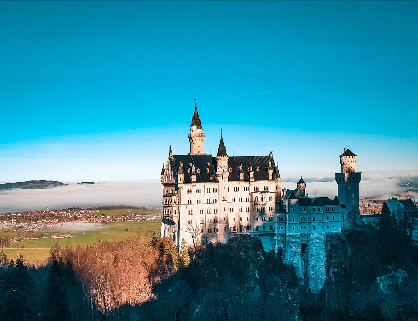 View of the Neuschwanstein Castle