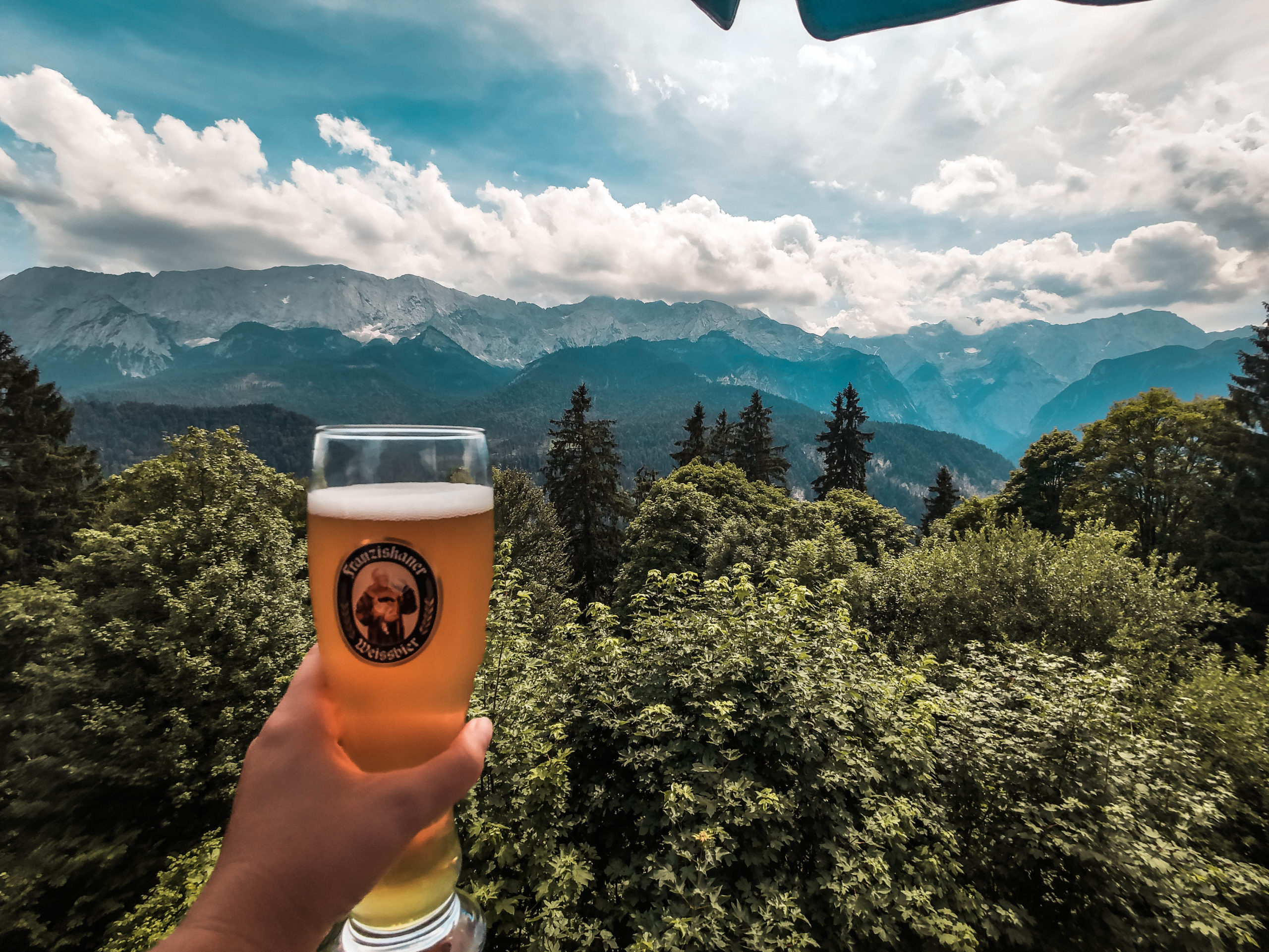 View with a beer from there Partnachalm