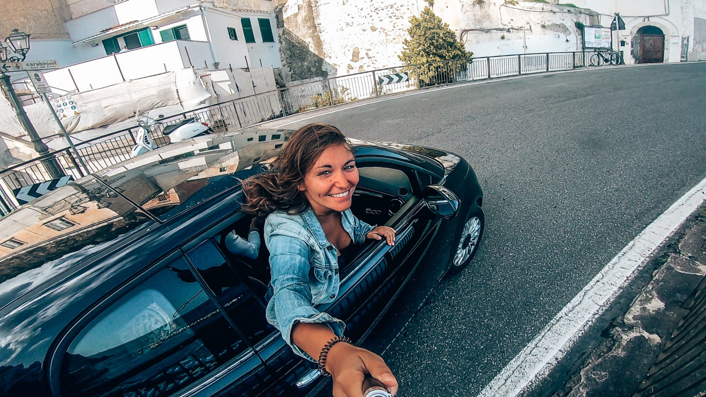 Selfie out of car