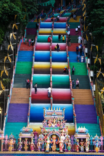 The famous stairs to the Batu Caves